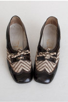 brown vintage loafers