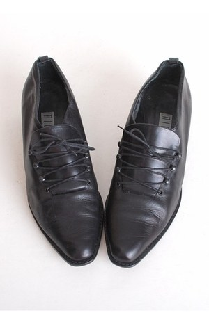 black vintage loafers
