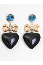 black vintage earrings