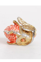 carrot orange vintage ring