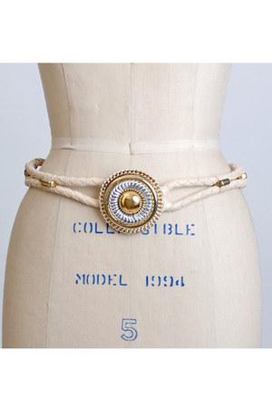 ivory vintage belt