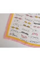 pink oblong silk vintage Vera Neumann scarf
