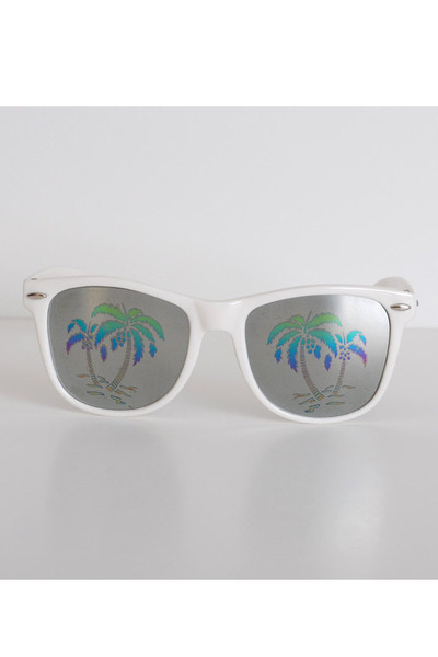 white vintage sunglasses