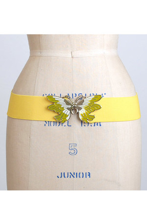 yellow vintage belt
