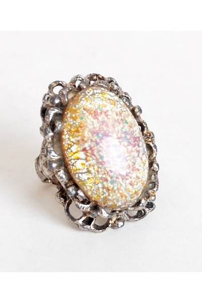 cream vintage ring