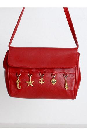 red vintage bag