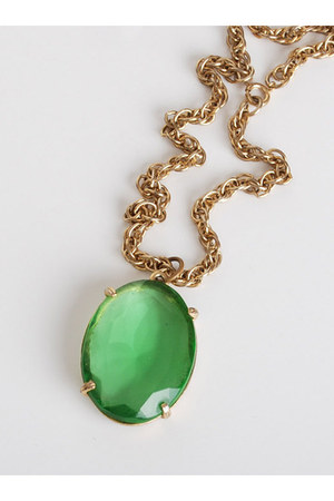 green vintage necklace necklace