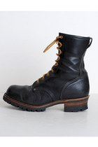 Black-combat-leather-vintage-boots