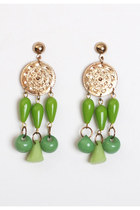 chartreuse vintage earrings