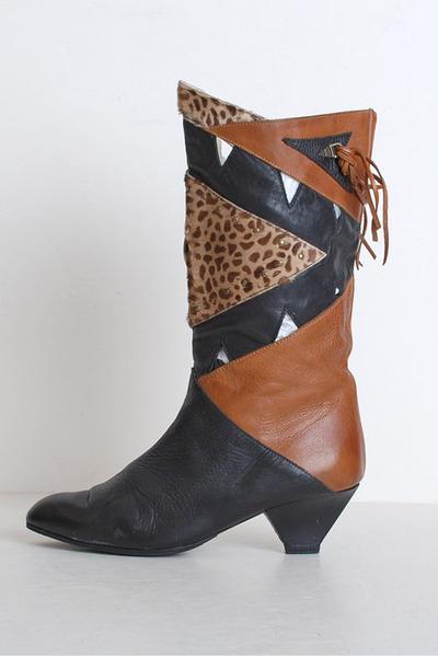 black vintage boots