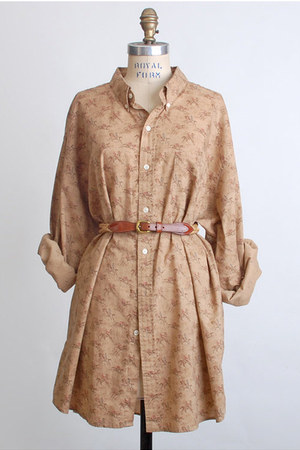 light brown Vintage Ralph Lauren shirt