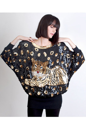 gold vintage blouse
