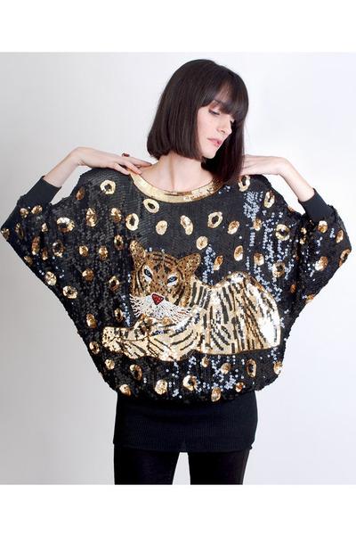 gold vintage blouse