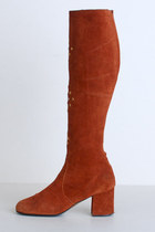 burnt orange vintage boots
