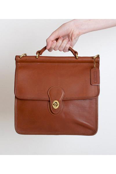 2d596898c67dd 90s Brown Leather Coach Satchel Shoulder Bag