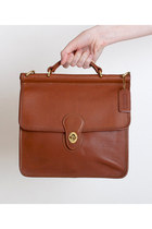 brown vintage Coach bag