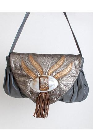 silver vintage bag