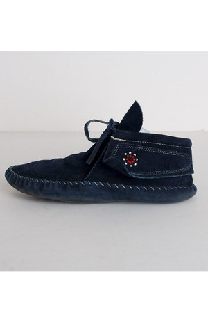 navy vintage boots