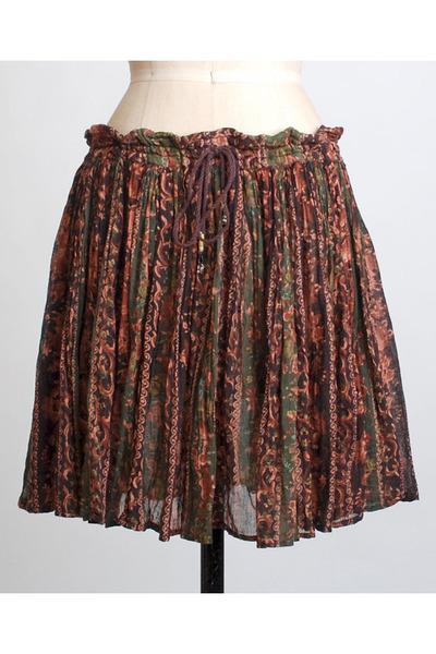 brown vintage scarf