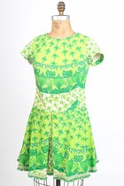 Chartreuse Aline Cotton Vintage Lilly Pulitzer Dresses