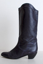 deep purple tall leather vintage boots