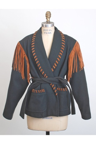 teal vintage jacket
