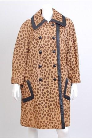 brown vintage coat