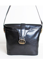 Vintage 60s 70s Navy Gucci Stripe Shoulder Bag