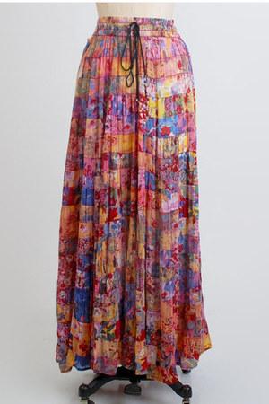 pink maxi long gauze vintage skirt