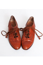 Size 5 Vintage 70s 80s Brown Ralph Lauren Spectators Shoes 35