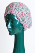 Vintage 70s Multi Knit Beret Hat