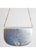 Vintage 60s SILVER Purse / Chain Strap Shoulder Bag