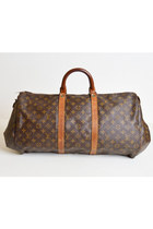 Vintage 60s 70s Louis Vuitton Monogram Canvas Duffle BAG / OOAK Reconstructed