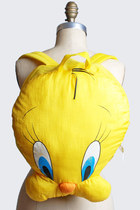 90s Tweetie Bird BACKPACK / Yellow Daypack School Bag
