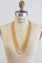gold vintage monet necklace