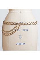 Vintage 60s 70s MOD Gold Chain Belt