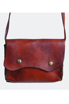 Vintage 70s Brown Leather Flap Shoulder Bag