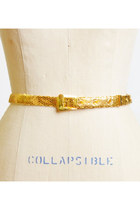 60s 70s GOLD METAL Fish Scale Belt / Gold Thin Belt, xs s