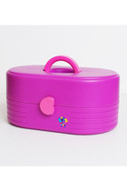 Vintage 80s 90s Caboodles Case Purple Hot Pink