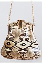 Vintage 60s 70s MOD Python Chain Shoulder Bag