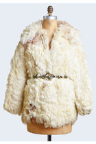 Vintage 70s LAMB Fur COAT / 1970s Shaggy CURLY Lamb Jacket