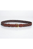 Vintage 90s Coach Woven Braid Brown Leather Belt