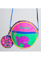 Vintage 90s Barney Heart Tambourine Shoulder Bag