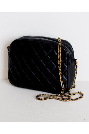 black Vintage Bloomingdales bag