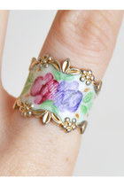 Vintage 40s 50s Sterling Silver Floral Guilloche RING