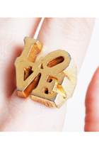 Vintage 70s Iconic LOVE Ring Robert Indiana Pop Art, s