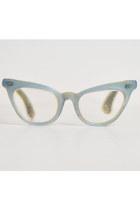 Vintage 50s Cats Eye Star Inlay Eyeglasses / 1950s Vintage Frames