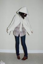 BCBG coat - Levis shirt - J Brand jeans - shoes