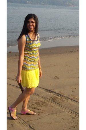 neob yellow sun coast beach wear skirt - Louis Vuitton wallet