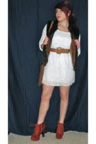 faux fur Goodwill vest - Charlotte Russe boots